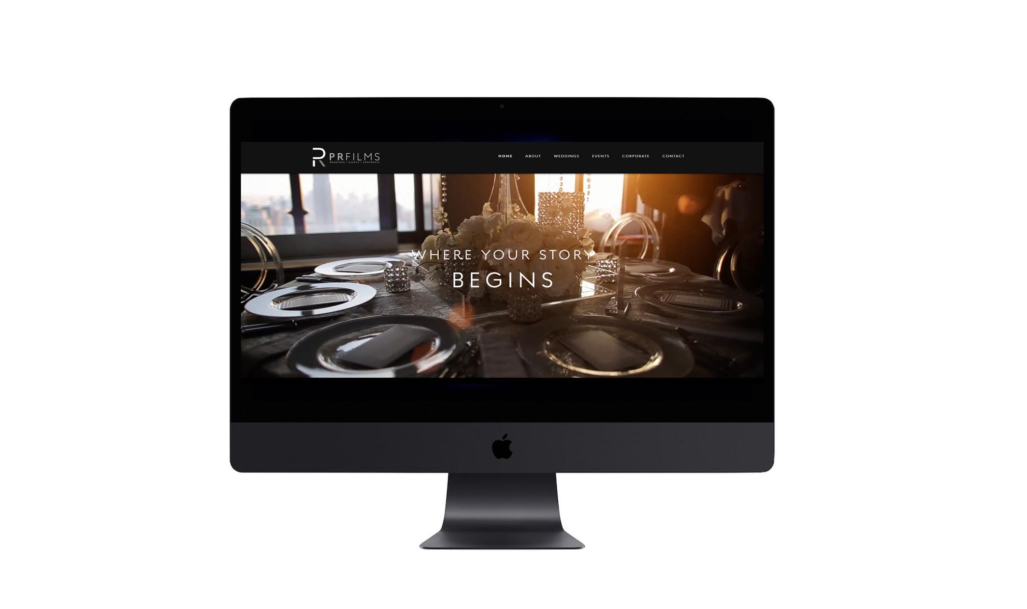 videographer - video production company website and brand identity design