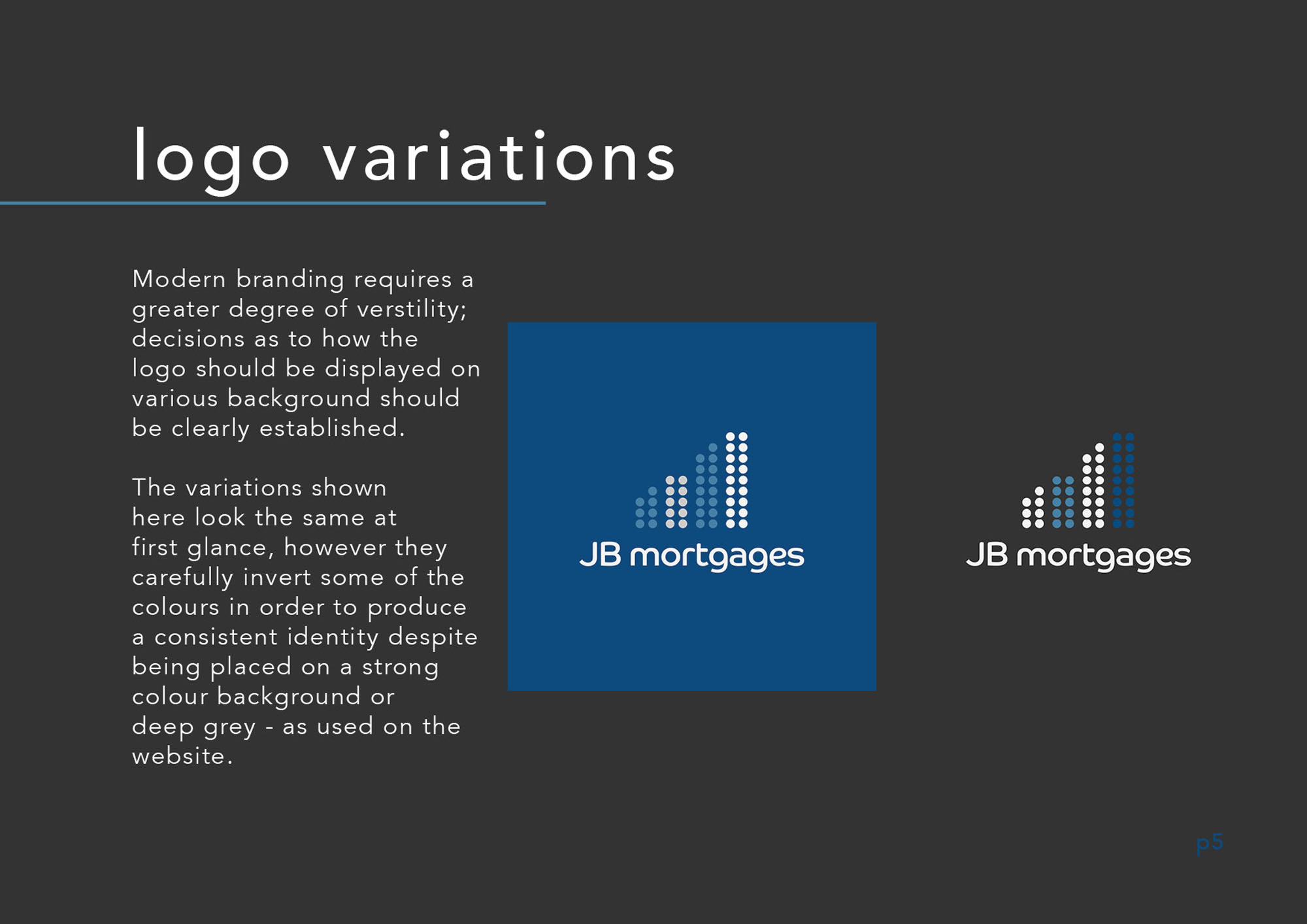 Brand Manual JB Mortgages Branding London Southgate