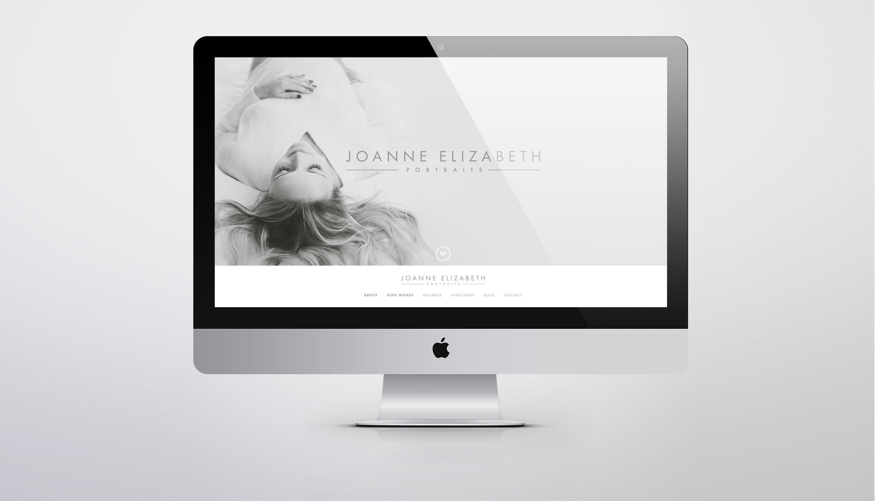 Joanne Elizabeth Photography - Website Design