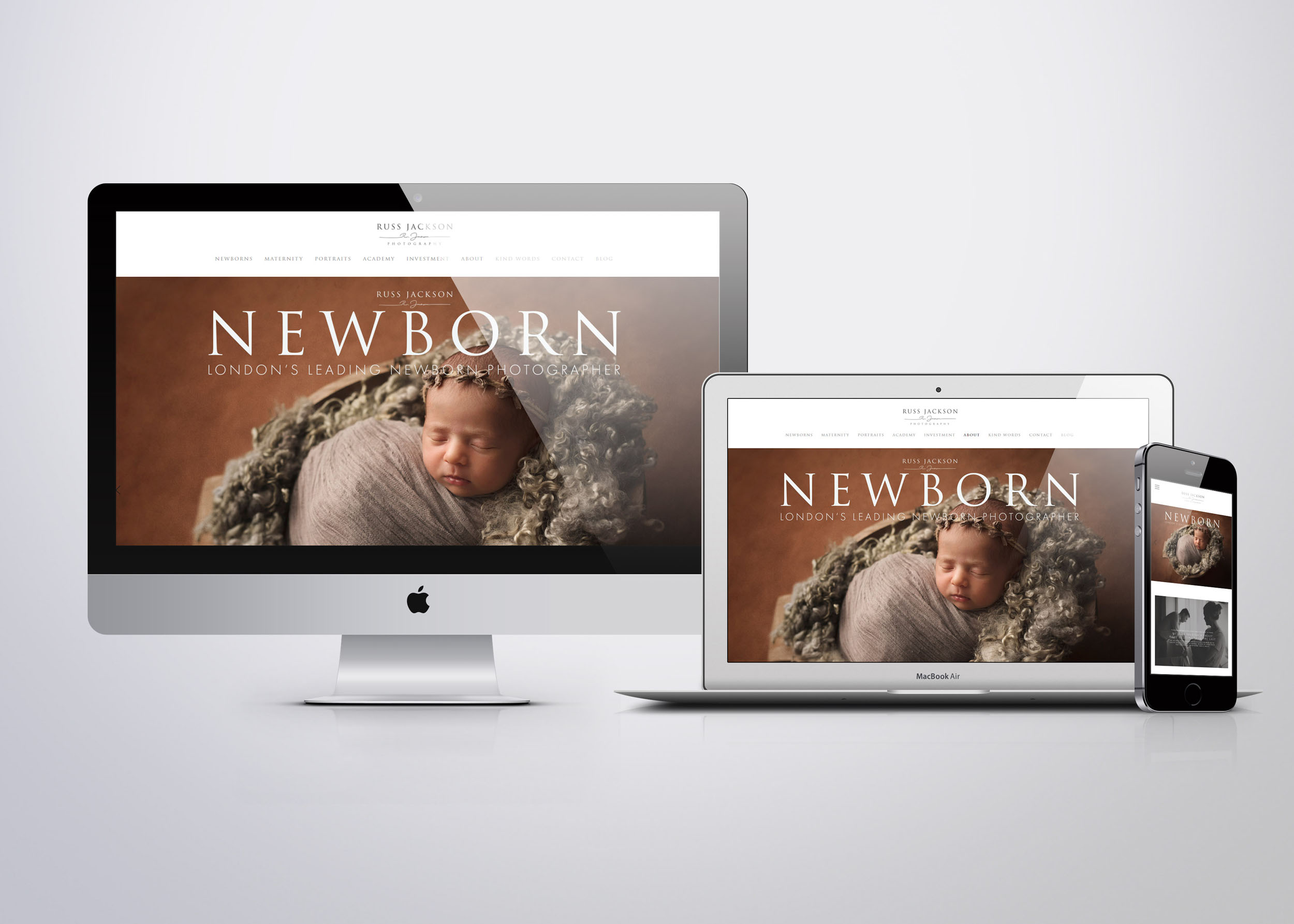 Russ Jackson Photography Newborn Photography Website