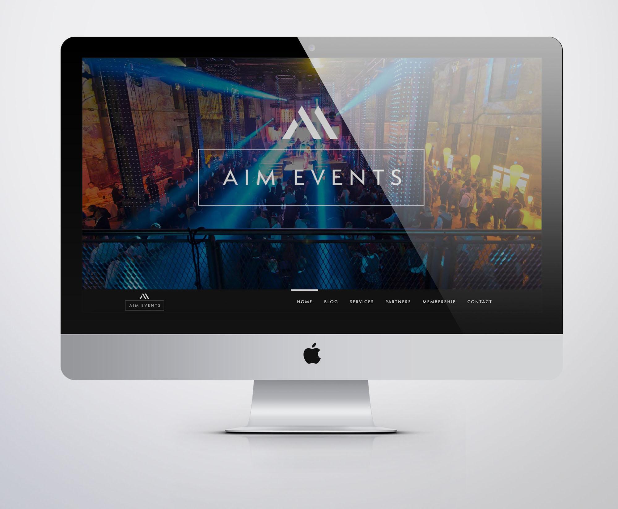 Aim Events Web Design Website Designer