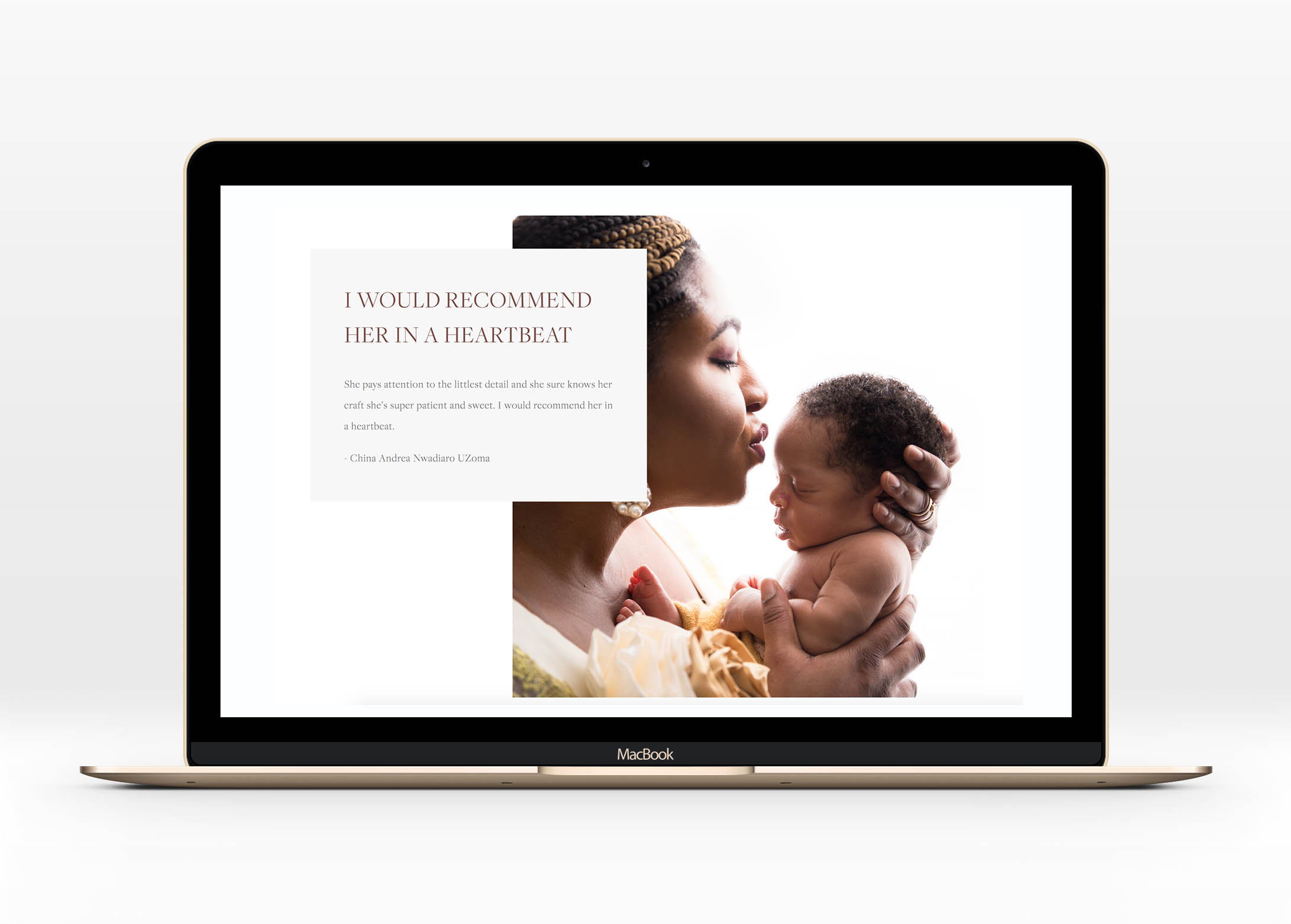 Motso Photography Web Design Website for Photographer