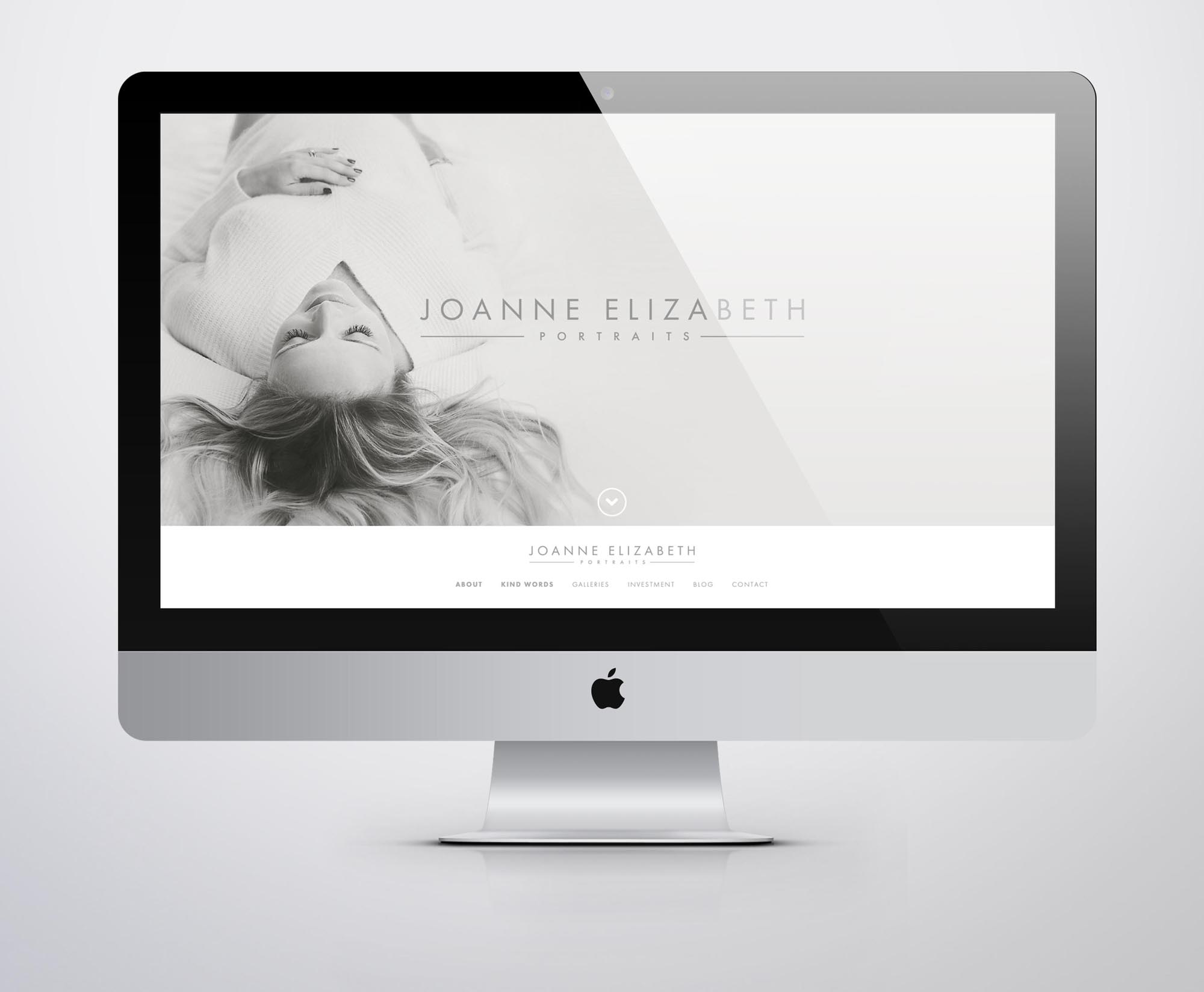 Joanne Elizabeth Photography Web Design Website for Photographers